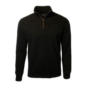 Men's J. Crew 1/2 Zip Sweater Black Size Medium